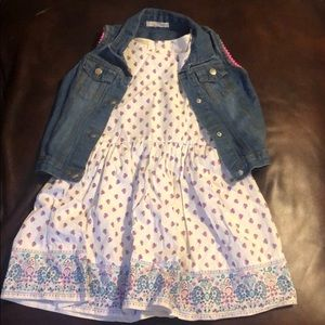 Self esteem dress and denim vest set NEW